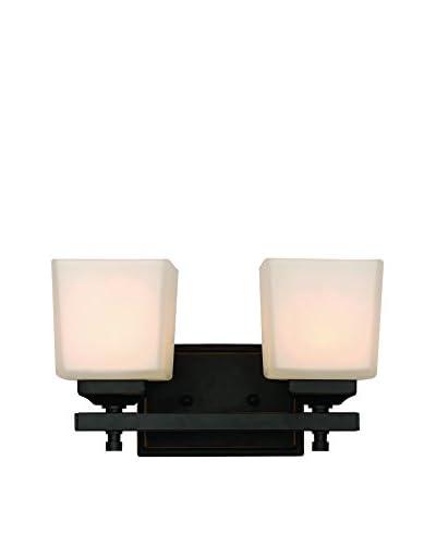 Bel Air Lighting Cubed 2-Light Sconce, Rubbed Oil Bronze