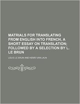 French translation of 'essay'