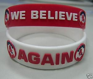RED SOX AGAIN AND WE BELIEVE COMMERATIVE WRISTBAND SET by Forever Collectibles