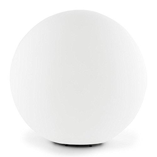 Lightcraft-Shineball-L-runde-Kugel-Lampe-Kugelleuchte-Kugellicht-verwendbar-als-Auen-Garten-Weg-Teich-Boden-oder-Gartenlicht-40cm-Durchmesser-Spritzwasserdicht-inkl-aufsteckbarer-Erdngel-wei