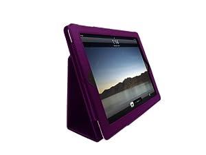G-HUB Lila Tasche Case für Apple iPad 2, iPad 3 und für das neue iPad 4 (Neueste 2012 Modell 4. Generation iPad 4) mit integrierter Standfunktion, und BONUS G-HUB ProPen Stylus