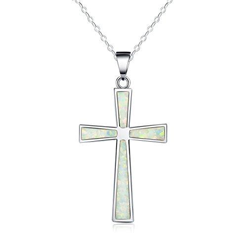 collar-con-colgante-de-mujer-18-forma-de-cruz-opalo-blanco-sintetico-plata-esterlina-925