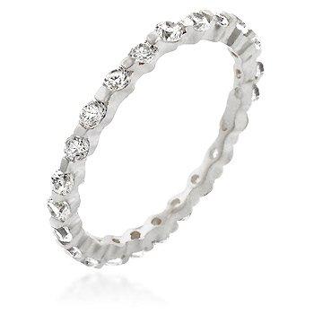Studio 925 Bezel Diamond CZ 1ct Sterling Silver Eternity Ring, 7