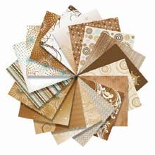ColorStories 12x12 Scrapbooking Paper Pack: Tales Of Brown