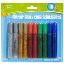 Crafter's Square Glitter Glue Assorted Colors 10 Count Pack - 1