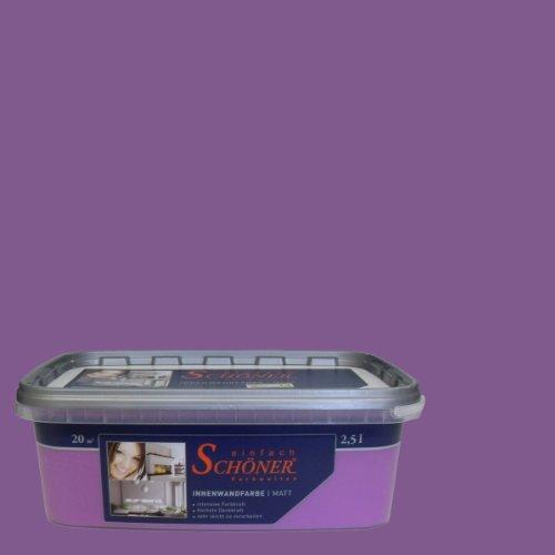wilckens wandfarbe einfach sch ner farbwelten 2 5 l zauberh violett 13740826080. Black Bedroom Furniture Sets. Home Design Ideas