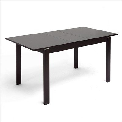 Baxton Studio Lockerbie Modern Dining Table with Leaf Extension