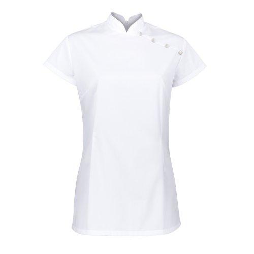 Alexandra - Camicetta a Tunica - Salute Bellezza & Spa - Abbigliamento da lavoro (44) (Bianco)