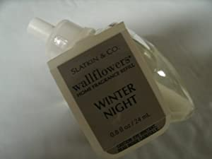 Bath and Body Works Wallflowers Home Fragrance Refill Winter Night- 1 Bulb 0.8 Fl Oz