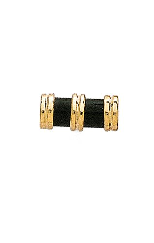 14K Yellow Gold Black Onyx Cylinder Tie Tac with Gold End Caps-89950