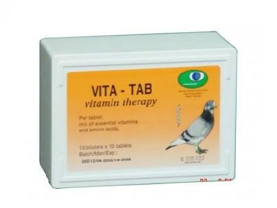 Vita-Tab - 100 tablets - vitamins and amino acids - by Pantex - Racing Pigeons