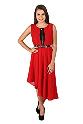 Vteens Red Asymmetrical Dress (vd1507-S_Red_Small)