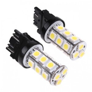 Cutequeen Trading Led White 5050 18Smd 18-Smd Led Switchback Turn Signal Lights 3157 3457 3057 4157