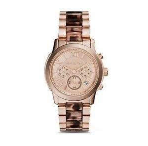 Michael Kors Cooper Tort Acetate Rose Gold-Tone Ladies Watch MK6155