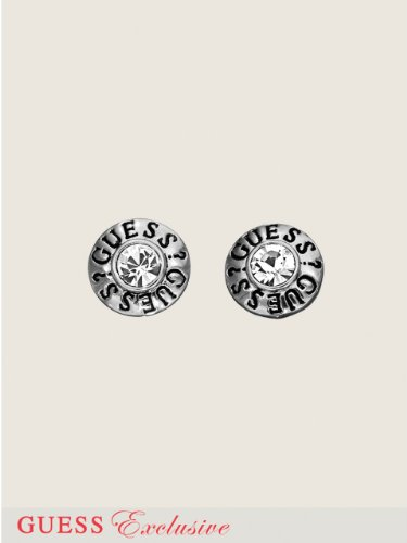 GUESS GUESS Disc Stud Earrings, SILVER