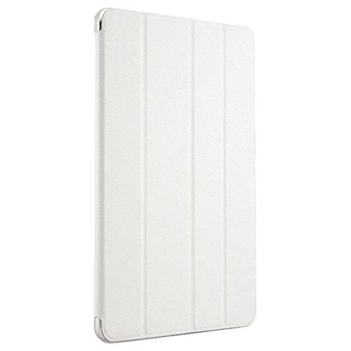 iBUFFALO iPad Air 2 (2014年) スリムレザーフラップケース 液晶保護フィルム付 ホワイト BSIPD14LSWH 【フラップカバーと薄型ケースの一体構造で画面と本体をしっかり守る】