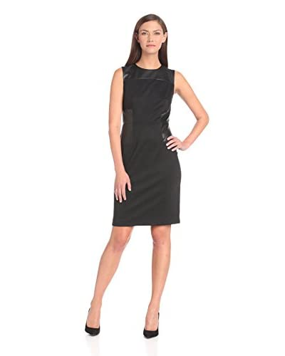 Donna Morgan Women's Shift with Faux Leather