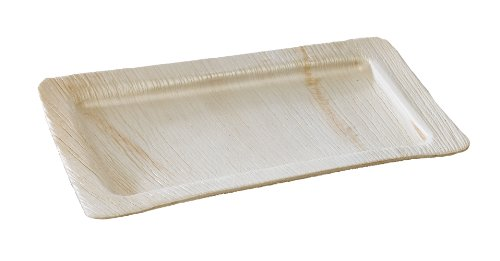 Packnwood 210Bba2818 Palm Leaf Rectangular Plate, 11-Inch Long X 7.28-Inch Wide X 0.6-Inch High (Case Of 100)