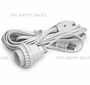 Happy Sales Hanging Lantern Cord 15'L White ( UL Listed )
