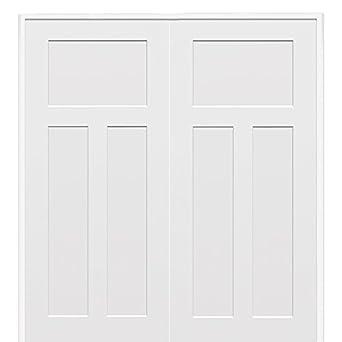 National Door Company Z009499ba Wood Prehung In Swing Interior Double Door Craftsman Solid Core
