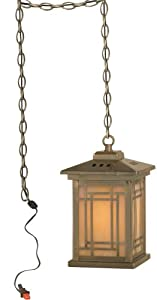 Dale Tiffany TH10890 Mission Pendant Lamp, Antique Brass