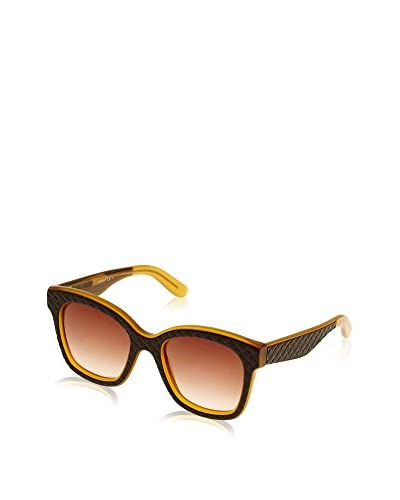 Bottega Veneta Sonnenbrille B.V. 297/S_TG5 (52 mm) dunkelbraun/senf
