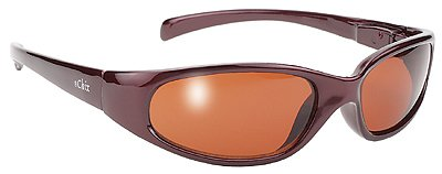 Womens Bronze Frame Wrap Around Riding Biker Sunglasses
