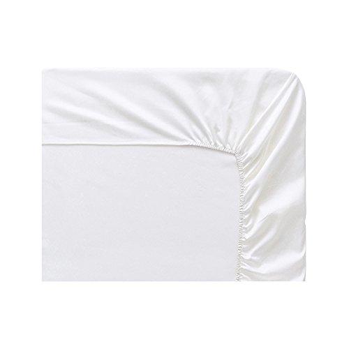 Essix  Drap Housse Satin de Coton Panna Cotta 90 x 2 x 200 cm