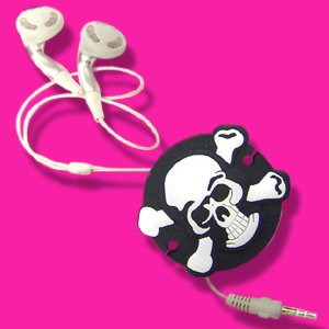 Headphone Cable Tidy - Skull Cord Wrapper