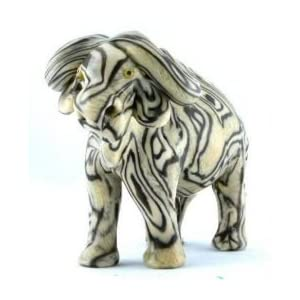 Imported African Handmade Water Buffalo Safari Animal Candle, medium