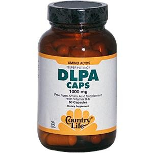 Country Life Dlpa Caps,1000 Mg With B-6, Capsules, 60-Count