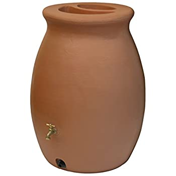 Algreen Products Castilla Rain Barrel 50-Gallon, Terra Cotta