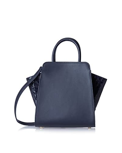 Zac Zac Posen Women's Vachetta Painted Patent Eartha North/South Mini Satchel, Navy