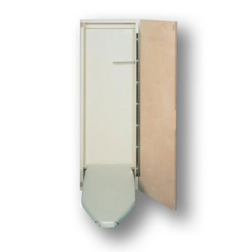 "Non-Electric Surface Mounted Wood Ironing Board in Cabinet by HANDi-PRESS (Birch Veneer) (47 7/8""H x 14 3/8""W x 2 3/8""D)"