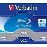 Verbatim 43715 - 5PK 43715 25GB 6X BD-R JC