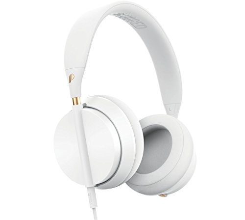 Plugged Crown Series Headphones, White/Rose