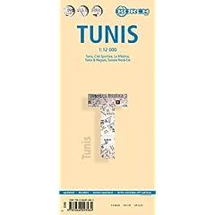 Tunis Laminated Map (B&B) 1:12 000 (English, French and German Edition) Berndtson & Berndtson