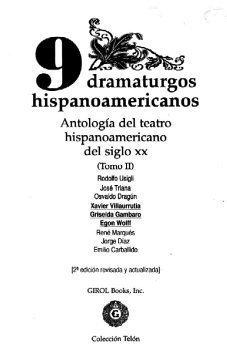 9 dramaturgos hispanoamericanos, Tomo II (Colección Telón)