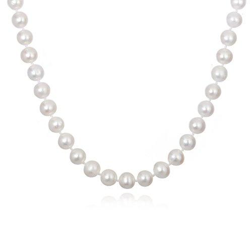 8mm White Freshwater Pearl Necklace-24