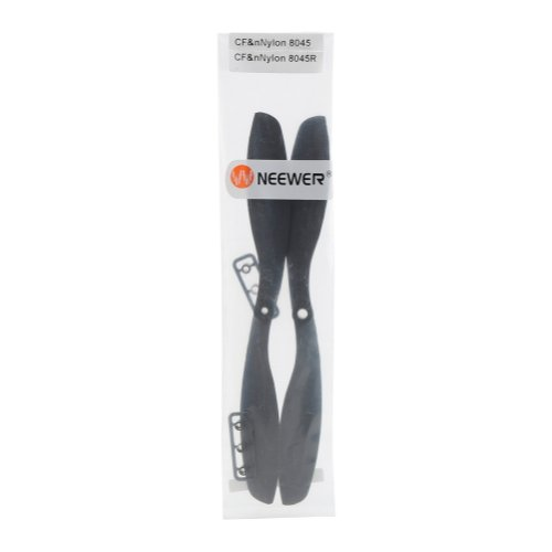 NEEWER® 8*4.5 Forward & Reverse Propeller (CF&Nylon) Set 8045/8045R Slow Fly Prop