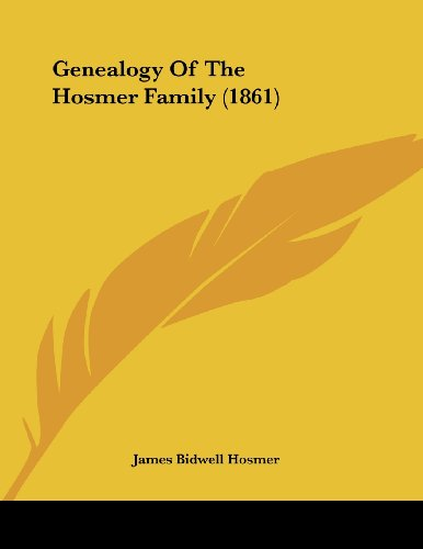 Genealogy of the Hosmer Family (1861)
