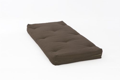 3ft (90cm) Single Luxury Futon Mattress in Chocolate