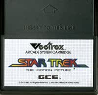 Vectrex Star Trek The Motion Picture Game By: GCE