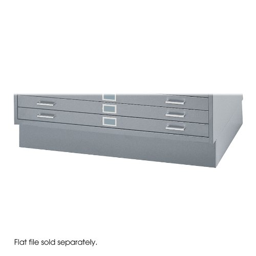 Safco 4999GRR Base For Five-Drawer Stackable Steel Flat Files, 50w x 38d, Gray