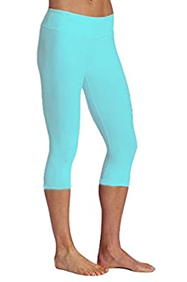 ABUSA Women's Cotton Workout Tights Capri YOGA Pants