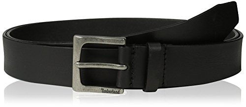 Timberland Classic Jean Black Leather Belt Size 34