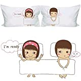 """NaughtyGifty """"You're My Sweetest Treat"""" Funny Pillowcases-Romantic Valentines Gifts for Couples,Cute Valentines Day Gift Ideas,Good Couple Gifts for Valentines,Romantic Anniversary Gifts"""