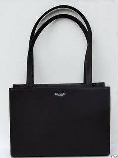 Kate Spade Nylon Sam Shopper Shoulder Bag Tote Black