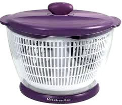 Checkout Kitchenaid Professional Series Boysenberry Purple 6-1/2 Quart Salad, Herb And Fruit Spinner deal