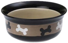 "Petrageous Designs City Pets Bones 6"" Pet Bowl"